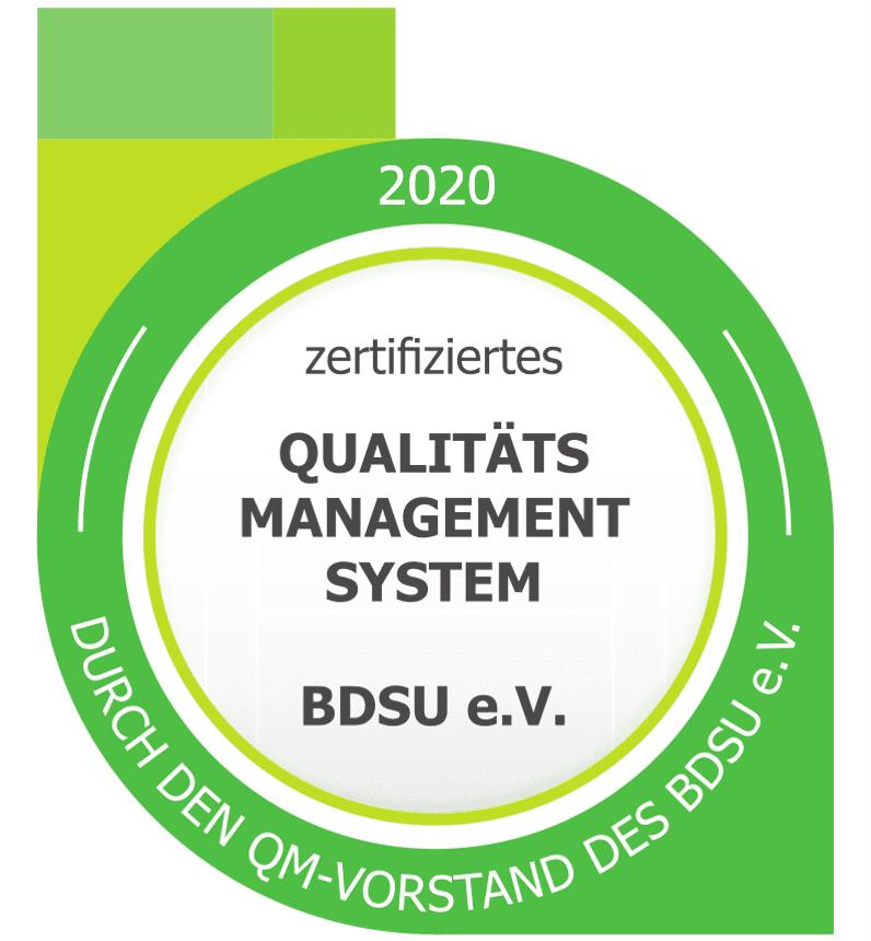 Siegel des BDSU-Audits 2020